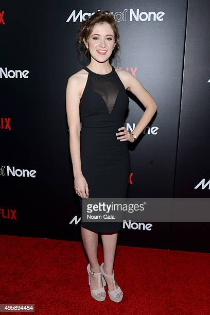 "Actress Noel Wells attends the ""Master Of None"" New York premiere at AMC Loews 19th Street East 6 Theater on November 5, 2015 in New York City."