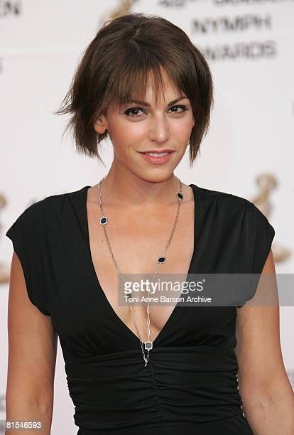 Actress Noemie Elbaz attends the Golden Nymph awards ceremony during the 2008 Monte Carlo Television Festival held at Grimaldi Forum on June 12 2008...