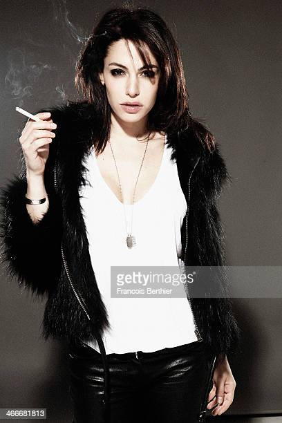 Actress Noemie Elbaz is photographed for Self Assignment on January 16, 2014 in Paris, France.