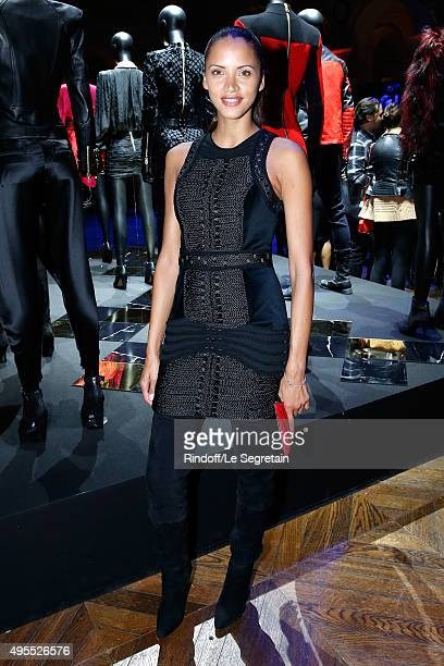 Actress Noemie Lenoir attends the BALMAIN x HM Paris Launch Party on November 3 2015 in Paris France