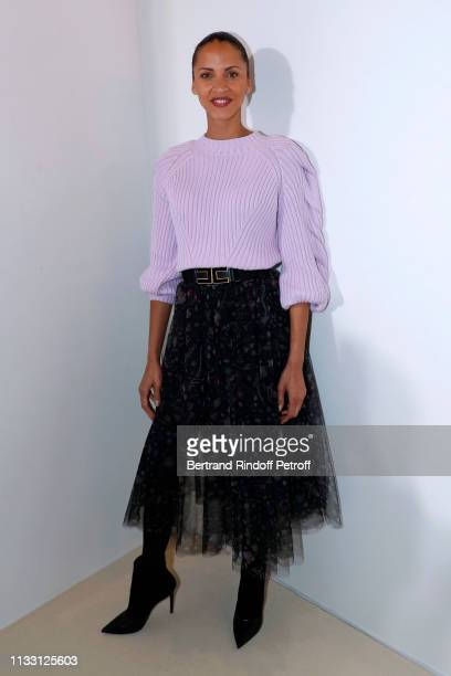 Actress Noemie Lenoir attends the LVMH Prize 2019 Edition at Louis Vuitton Avenue Montaigne Store on March 01 2019 in Paris France