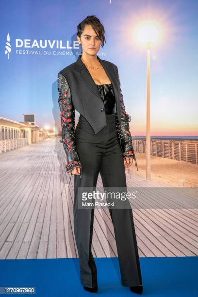"""Actress Noemie Merlant attends """"A Good Man"""" photocall at the 46th Deauville American Film Festival on September 06, 2020 in Deauville, France."""