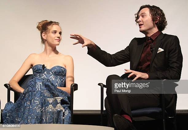 Actress Noemie Schmidt and actor Alexander Vlahos participate in a postscreening panel discussion at the premiere of Ovation TV's 'Versailles' at...