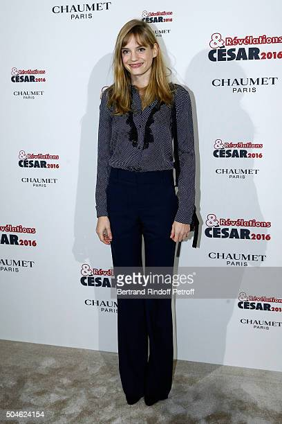 Actress Noemie Schmidt nominated for 'L'Etudiante et Monsieur Henri' attends the 'Cesar Revelations 2016' Photocall at Chaumet followed by a dinner...