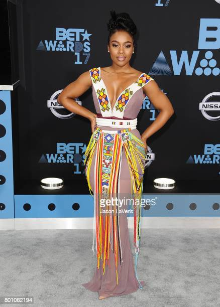 Actress Nomzamo Mbatha attends the 2017 BET Awards at Microsoft Theater on June 25 2017 in Los Angeles California