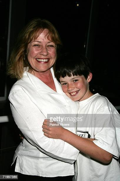 Actress Noni Hazlehurst attends with her son William the party for the Sydney Theatre Company's 2007 Season Launch at Walsh Bay on September 26 2006...