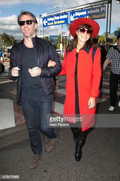 Actress Noomi Rapace and a friend are seen at Nice airport during the 68th annual Cannes Film Festival on May 15 2015 in Cannes France