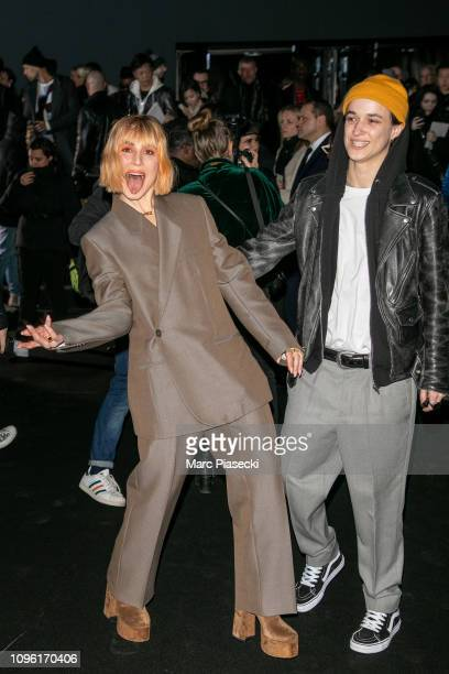 Actress Noomi Rapace and Agathe Mougin attend the Dior Homme Menswear Fall/Winter 20192020 show as part of Paris Fashion Week on January 18 2019 in...