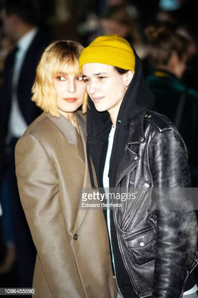 Actress Noomi Rapace and Agathe Mougin attends the Dior show during Paris Fashion Week Menswear F/W 20192020 on January 18 2019 in Paris France