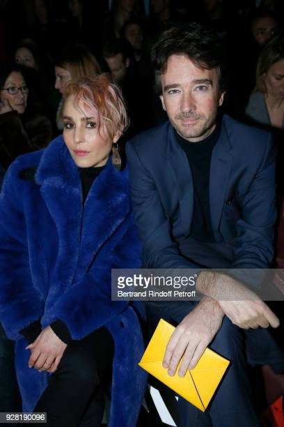 Actress Noomi Rapace and General manager of Berluti Antoine Arnault attend the Louis Vuitton show as part of the Paris Fashion Week Womenswear...