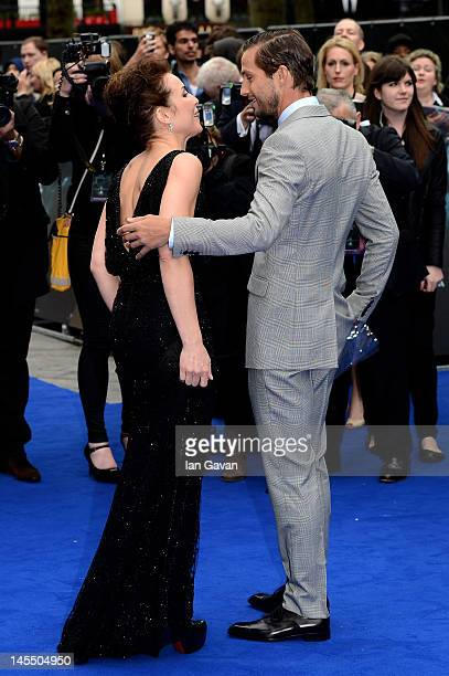 Actress Noomi Rapace and Logan MarshallGreen attend the world premiere of Prometheus at the Empire Leicester Square on May 31 2012 in London England