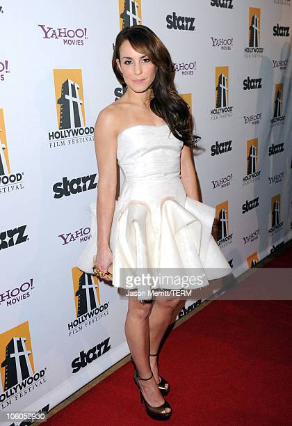 Actress Noomi Rapace arrives at the 14th annual Hollywood Awards Gala at The Beverly Hilton Hotel on October 25 2010 in Beverly Hills California