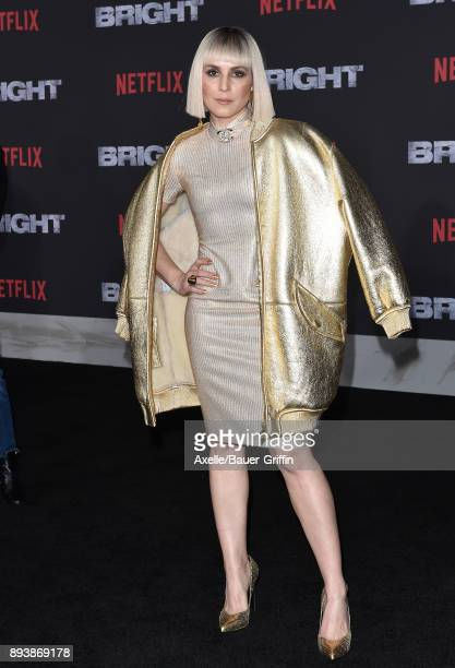Actress Noomi Rapace arrives at the premiere of Netflix's 'Bright' at Regency Village Theatre on December 13 2017 in Westwood California