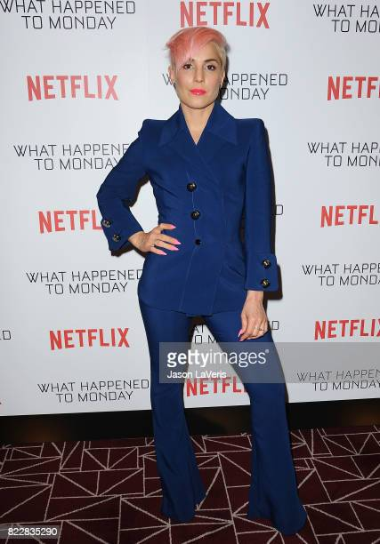 Actress Noomi Rapace attends a screening of What Happened To Monday at The London West Hollywood on July 25 2017 in West Hollywood California
