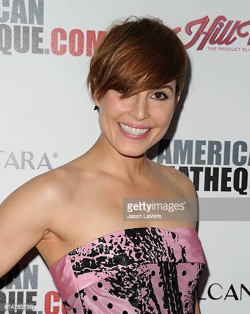 Actress Noomi Rapace attends the 30th annual American Cinematheque Awards gala at The Beverly Hilton Hotel on October 14 2016 in Beverly Hills...