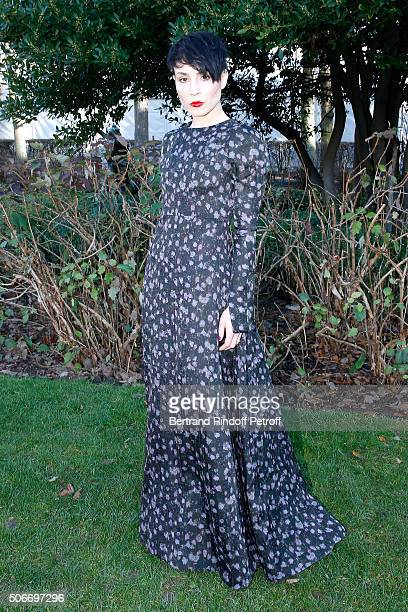 Actress Noomi Rapace attends the Christian Dior Haute Couture Spring Summer 2016 show as part of Paris Fashion Week on January 25 2016 in Paris France