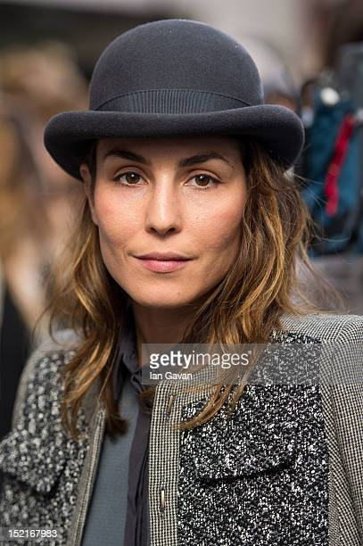 Actress Noomi Rapace attends the front row for the Antonio Berardi show on day 4 of London Fashion Week Spring/Summer 2013 at Brewer Street Car Park...