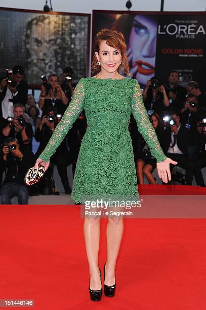 """Actress Noomi Rapace attends the """"Passion"""" Premiere during the 69th Venice Film Festival at the Palazzo del Casino on September 7, 2012 in Venice,..."""