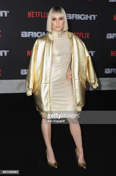 Actress Noomi Rapace attends the premiere of Netflix's 'Bright' at Regency Village Theatre on December 13 2017 in Westwood California