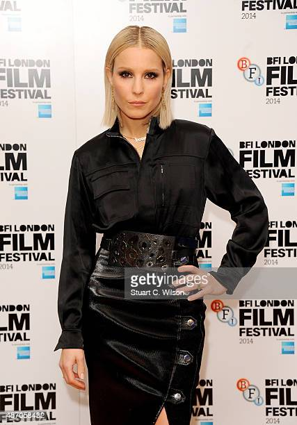 Actress Noomi Rapace attends the red carpet arrivals of The Drop during the 58th BFI London Film Festival at Odeon West End on October 11 2014 in...