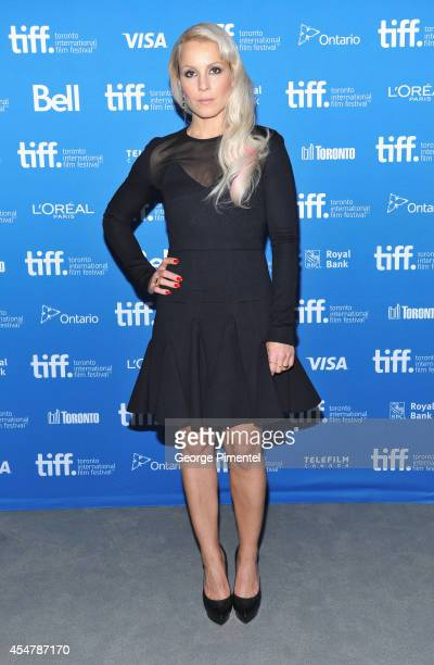 Actress Noomi Rapace of 'The Drop' poses at 'The Drop' Press Conference during the 2014 Toronto International Film Festival at TIFF Bell Lightbox on...