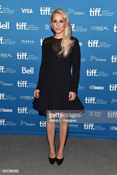 Actress Noomi Rapace of The Drop poses at The Drop Press Conference during the 2014 Toronto International Film Festival at TIFF Bell Lightbox on...