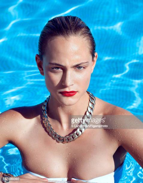 Actress Nora Arnezeder poses for Madame Figaro on June 18 2012 in Corscia France COVER IMAGE Figaro ID 103882023 Necklace and bracelet by Chanel...