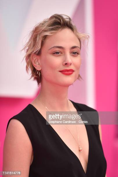 Actress Nora Arnezeder poses on the Pink Carpert during the 2nd Canneseries International Series Festival Day Five on April 09 2019 in Cannes France