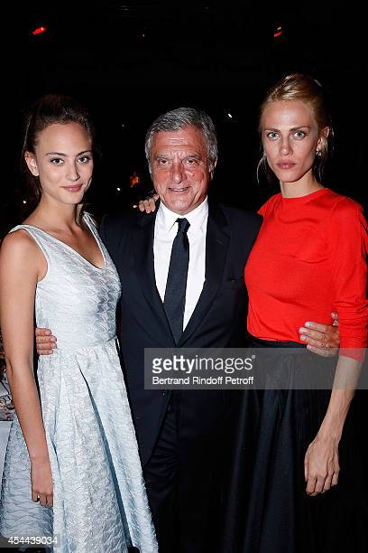 Actress Nora Arnezeder Sidney Toledano and Model Aymeline Valade attend the Grand Bal de Deauville For Care France Association in Casino Barriere de...