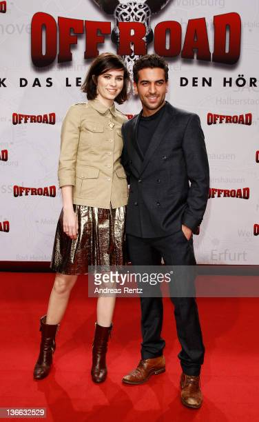 Actress Nora Tschirner and actor Elyas M'Barek attend the 'Offroad' premiere at cinema Kulturbrauerei on January 9 2012 in Berlin Germany