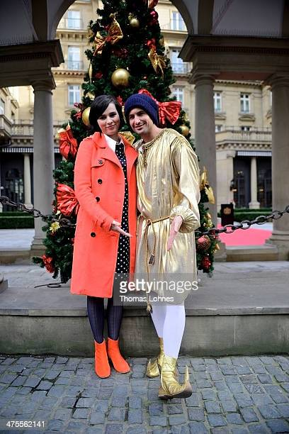 Actress Nora Tschirner and actor Tom Beck during a photocall on the set of Christmas romantic comedy 'Alles ist Liebe' on February 28 2014 in...
