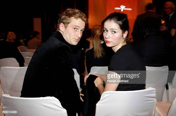 Actress Nora Tschirner and boyfriend Alex Felling attend the Liberty Award 2009 at Hotel Hyatt on March 26 2009 in Berlin Germany