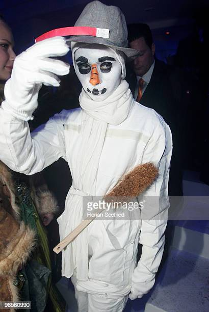 Actress Nora Tschirner as snowman attends the 'Zweiohrkueken GoldKostuemparty' at China Loung on February 10 2010 in Berlin Germany