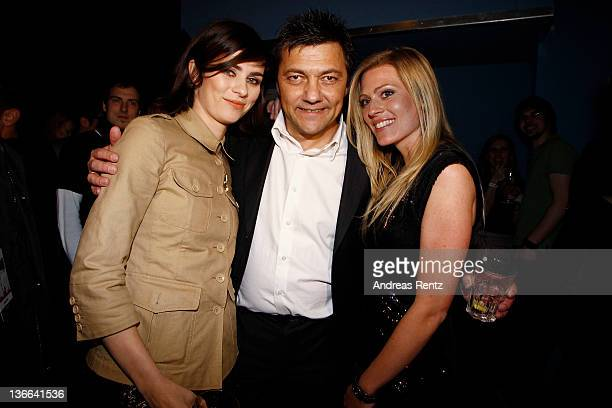 Actress Nora Tschirner, Paramount Germany CEO Sven Sturm and actress Nele Kiper attend the afterparty to the 'Offroad' premiere at cinema...