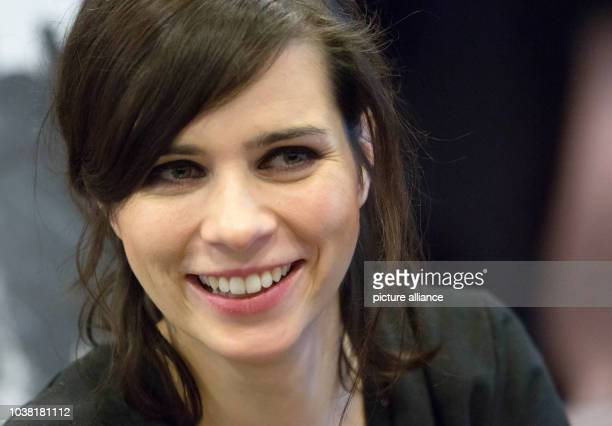 Actress Nora Tschirner speaks during an interview with news agency dpa in Hamburg Germany 16 January 2013 Tschirner will be the German dubbing voice...