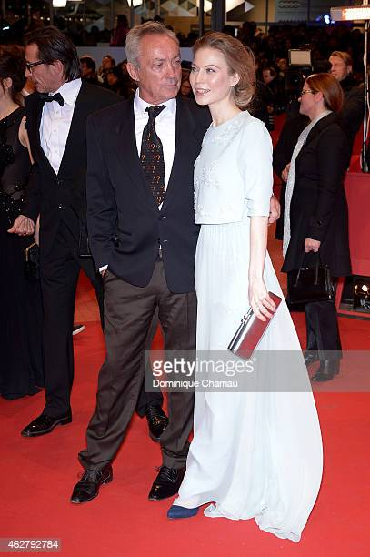Actress Nora von Waldstaetten and actor Udo Kier attend the 'Nobody Wants the Night' premiere and Opening Ceremony of the 65th Berlinale...