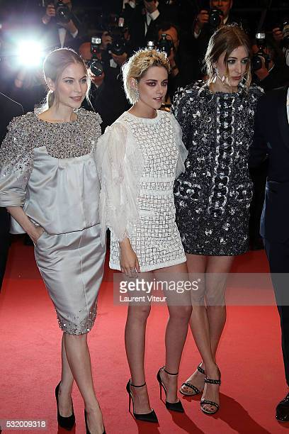 Actress Nora von Waldstaetten Kristen Stewart and Sigrid Bouaziz attend the 'Personal Shopper' premiere during the 69th annual Cannes Film Festival...