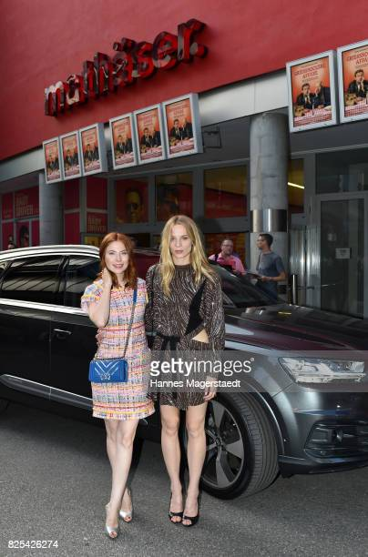 Actress Nora Waldstaetten and Lilith Stangenberg during the 'Griessnockerlaffaere' premiere at Mathaeser Filmpalast on August 1 2017 in Munich Germany