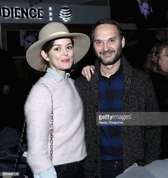 Actress Nora Zehetner and Verge Creative Director and Founder Jeff Vespa attend DIRECTV Verge 5th Anniversary Sundance Party 2017 at Audience at The...