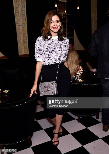 Actress Nora Zehetner attends the I Love Coco Backstage Beauty Lounge at Chateau Marmont's Bar Marmont on February 25 2016 in Hollywood California