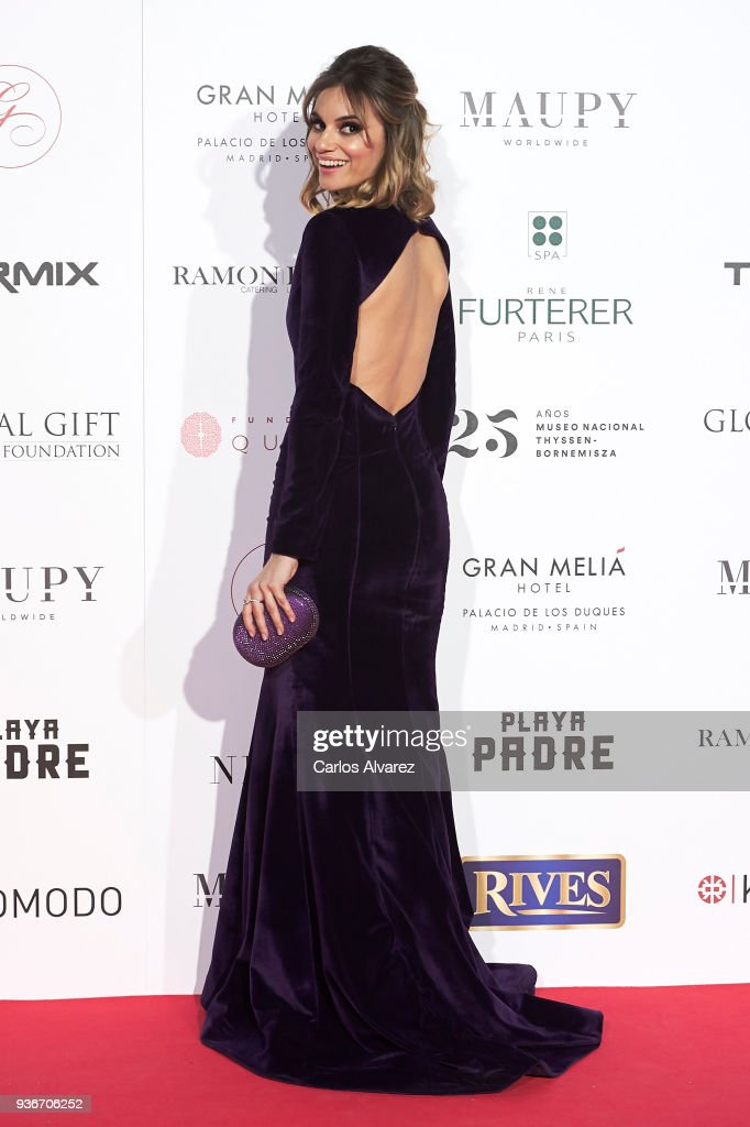 Actress Norma Ruiz attends The Global Gift Gala at the Thyssen-Bornemisza museum on March 22, 2018 in Madrid, Spain.