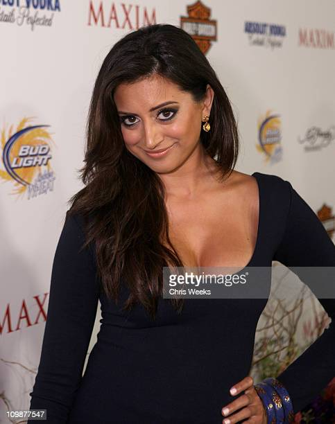 Actress Noureen DeWulf arrives at the 11th annual Maxim Hot 100 Party with HarleyDavidson ABSOLUT VODKA Ed Hardy Fragrances and ROGAINE held at...