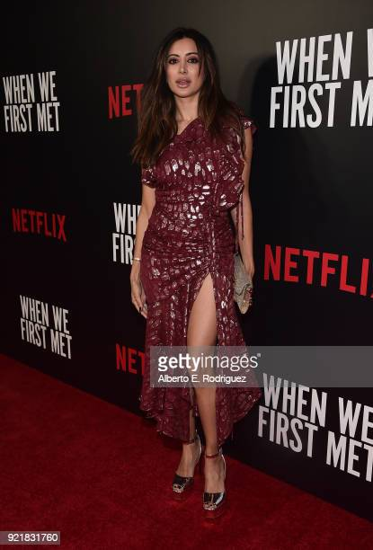 Actress Noureen DeWulf attends a special screening of Netflix's 'When We First Met' at ArcLight Hollywood on February 20 2018 in Hollywood California