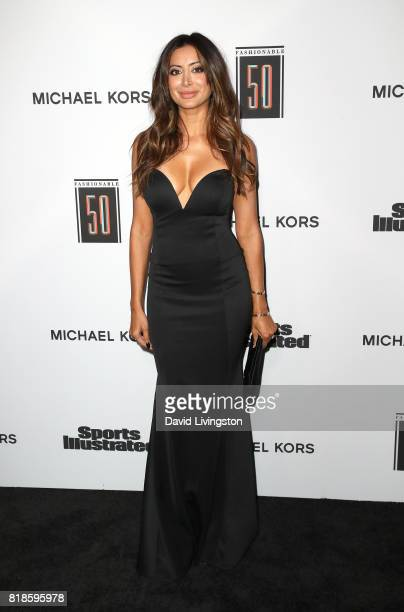 Actress Noureen DeWulf attends Sports Illustrated Fashionable 50 at Avenue on July 18 2017 in Los Angeles California
