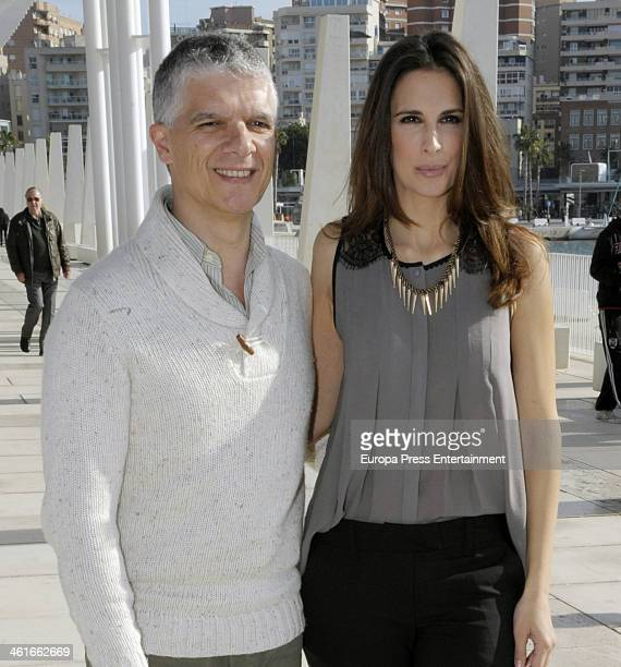 Actress Nuria Fergo and director Norberto Rizzo present 'Lucia La Maga' on January 9 2014 in Malaga Spain