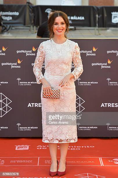 Actress Nuria Gago attends Nuestros Amantes premiere at the Cervantes Teather during the 19th Malaga Film Festival on April 30 2016 in Malaga Spain