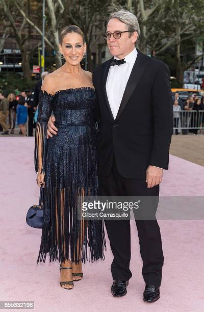 Actress/ NYCB Board Vice Chair Sarah Jessica Parker and husband actor Matthew Broderick attend the New York City Ballet's 2017 Fall Fashion Gala at...
