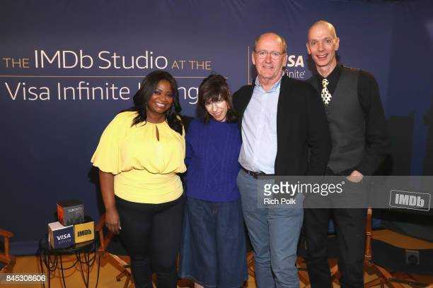 Actress Octavia Spencer actress Sally Hawkins actor Richard Jenkins and actor Doug Jones of ' The Shape Of Water' attend The IMDb Studio Hosted By...