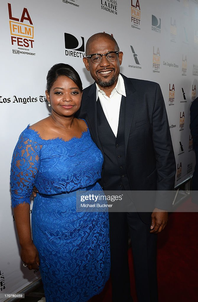 Actress Octavia Spencer (L) and actor Forest Whitaker arrives at the premiere of The Weinstein Company's 'Fruitvale Station' at Regal Cinemas L.A. Live on June 17, 2013 in Los Angeles, California.