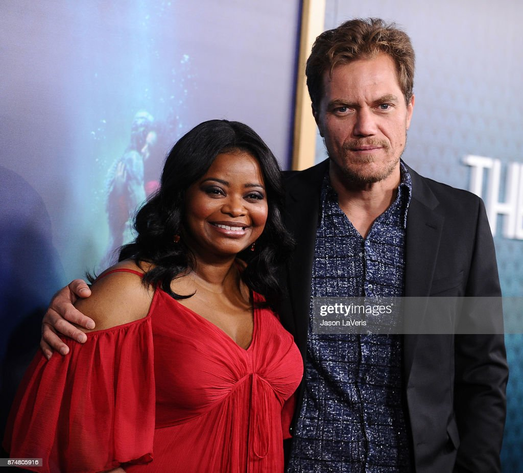 Actress Octavia Spencer and actor Michael Shannon attend the premiere of 'The Shape of Water' at the Academy of Motion Picture Arts and Sciences on November 15, 2017 in Los Angeles, California.